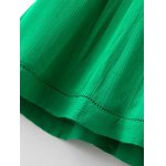 best Stylish Cami Green Lace Splice A Line Women's Dress