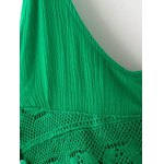 Stylish Cami Green Lace Splice A Line Women's Dress deal