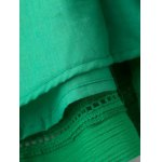 Stylish Cami Green Lace Splice A Line Women's Dress photo