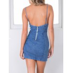 cheap Stylish Cami Blue Denim Women's Bodycon Dress