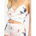 Fashion Cami Cut Out Bodycon Floral Dress For Women for sale