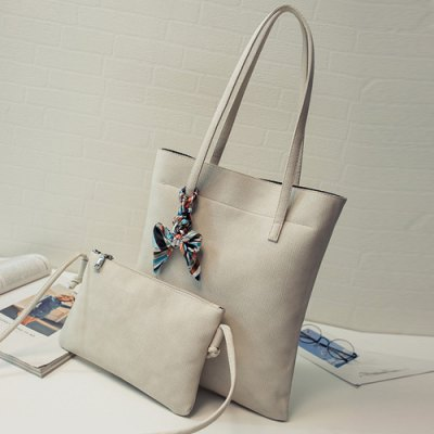 Leisure Solid Color and PU Leather Design Shoulder Bag For Women