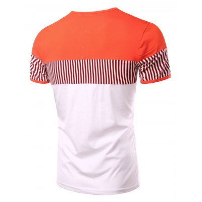 Stripes Round Neck Button Design Color Block Short Sleeves T-Shirt For MenMens Short Sleeve Tees<br>Stripes Round Neck Button Design Color Block Short Sleeves T-Shirt For Men<br><br>Material: Cotton Blends<br>Sleeve Length: Short<br>Collar: Round Neck<br>Style: Casual<br>Weight: 0.182kg<br>Package Contents: 1 x T-Shirt<br>Pattern Type: Striped