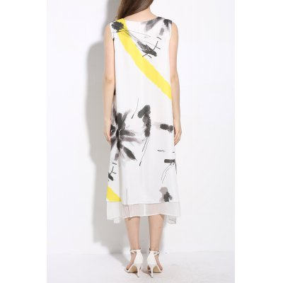 Sleeveless Print Double-Layered DressDesigner Dresses<br>Sleeveless Print Double-Layered Dress<br><br>Brand: EWUS<br>Style: Casual<br>Occasion: Casual,Day,Evening,Work<br>Material: Polyester<br>Composition: 100% Polyester<br>Silhouette: A-Line<br>Dresses Length: Mid-Calf<br>Neckline: Round Collar<br>Sleeve Length: Sleeveless<br>Pattern Type: Print<br>With Belt: No<br>Season: Fall,Spring,Summer<br>Weight: 0.370kg<br>Package Contents: 1 x Dress