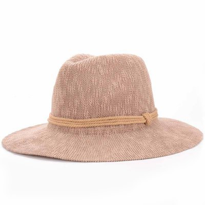 Three Layered Rope Embellished Holiday Sun Hat For Women