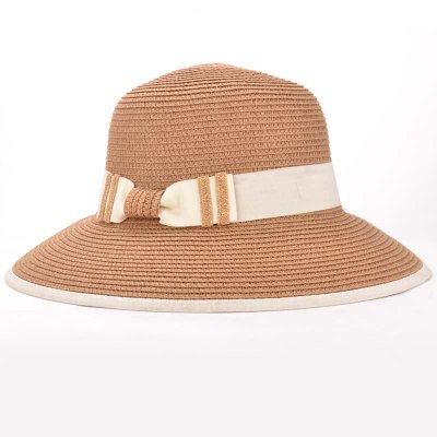 Bow Band Fresh Lady Style Holiday Travelling Straw Hat For Women