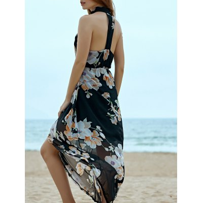 Elegant Floral Print Women's Chiffon Dress