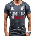 Hooded Headset and Letters Print Short Sleeve T-Shirt For Men
