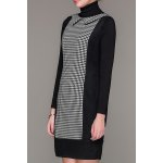 Flat Collar Houndstooth Mini Dress for sale