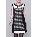 Houndstooth A Line Mini Dress deal