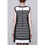 cheap Houndstooth A Line Mini Dress