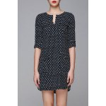 Jacquard Half Sleeve Dress