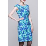 Round Collar Floral Print Dress for sale