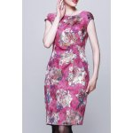 Floral Jacquard Bodycon Sleeveless Dress for sale