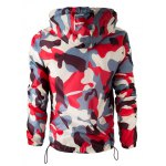cheap Hooded Camouflage Long Sleeve Polyester Jacket For Men