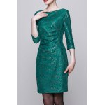 Sequined Bodycon 3/4 Sleeve Dress for sale