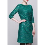Sequined Bodycon 3/4 Sleeve Dress deal