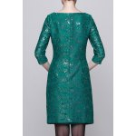 cheap Sequined Bodycon 3/4 Sleeve Dress