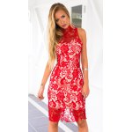 best Alluring Stand Neck Cut-Out Back Women's Midi Lace Dress