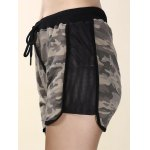 Trendy High-Waisted Camo Print Spliced Women's Shorts deal