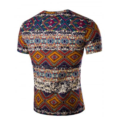 Tribal Print V Neck Tee ShirtMens Short Sleeve Tees<br>Tribal Print V Neck Tee Shirt<br><br>Collar: V-Neck<br>Material: Linen<br>Package Contents: 1 x T-Shirt<br>Pattern Type: Others<br>Sleeve Length: Short<br>Style: Casual<br>Weight: 0.1750kg