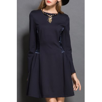 Long Sleeve Spliced Dress