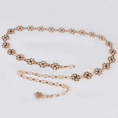 Sweet Lucky Four Leaf Clover Waist Chain For Women
