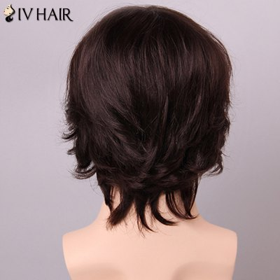Siv Hair Fashion Side Bang Human Hair Wig For Men