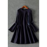 best Long Sleeve Spliced Dress