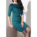 Salsh Neck Floral Pattern Bodycon Dress for sale