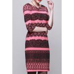 Jacquard Zippered Bodycon Dress for sale
