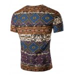 cheap Fashion V Neck Abstract Printing Short Sleeves T-Shirt For Men