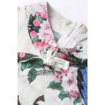 best Mandarin Collar Floral Cheongsam Dress
