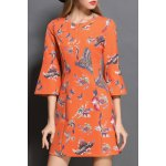 Butterfly Print Front Zippered Dress