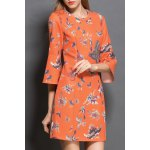 Butterfly Print Front Zippered Dress for sale