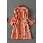 best Butterfly Print Front Zippered Dress