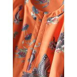 Butterfly Print Front Zippered Dress photo
