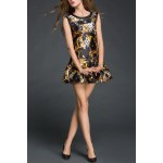 Sleeveless Bowknot Print Dress for sale