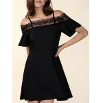 Chic Women's Laced Hollow Out Dress