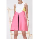 Color Block Tank Top Dress