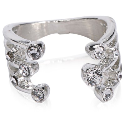 Luxury Rhinestoned Womens Cuff RingRings<br>Luxury Rhinestoned Womens Cuff Ring<br><br>Gender: For Women<br>Material: Rhinestone<br>Metal Type: Copper<br>Style: Trendy<br>Shape/Pattern: Others<br>Diameter: 2CM<br>Weight: 0.070kg<br>Package Contents: 1 x Ring