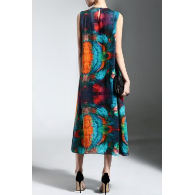 Sleeveless Colorful Print Pleated DressDesigner Dresses<br>Sleeveless Colorful Print Pleated Dress<br><br>Style: Casual<br>Occasion: Day<br>Material: Polyester,Ramie<br>Composition: Outer Composition:100% Ramie&lt;br&gt;Lining Composition:100% Polyester<br>Silhouette: Pleated<br>Dresses Length: Mid-Calf<br>Neckline: Jewel Neck<br>Sleeve Length: Sleeveless<br>Pattern Type: Print<br>With Belt: No<br>Season: Spring,Summer<br>Weight: 0.370kg<br>Package Contents: 1 x Dress