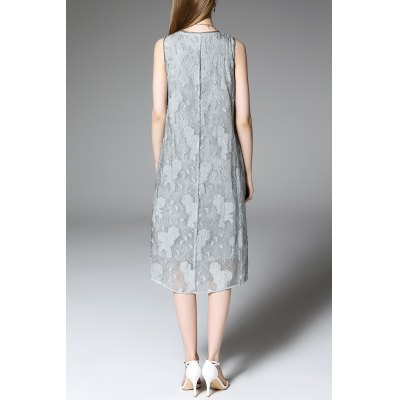 Jacquard Sleeveless DressDesigner Dresses<br>Jacquard Sleeveless Dress<br><br>Style: Casual<br>Occasion: Casual,Cocktail &amp; Party,Day,Work<br>Material: Cotton,Polyester<br>Composition: 70% Cotton,30% Polyester<br>Silhouette: A-Line<br>Dresses Length: Mid-Calf<br>Neckline: Round Collar<br>Sleeve Length: Sleeveless<br>Waist: Natural<br>Pattern Type: Solid<br>Elasticity: Micro-elastic<br>With Belt: No<br>Season: Summer<br>Weight: 0.360kg<br>Package Contents: 1 x Dress