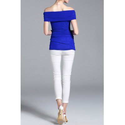 Two Way Wear Pure Color Blouse