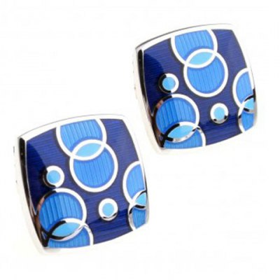 Pair of Stylish Bubble Pattern Quadrate Alloy Cufflinks For Men