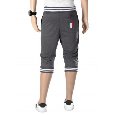 Vogue Beam Feet Letters Pattern Rib Spliced Lace-Up Capri Pants For MenMens Pants<br>Vogue Beam Feet Letters Pattern Rib Spliced Lace-Up Capri Pants For Men<br><br>Style: Casual<br>Pant Style: Jogger Pants<br>Pant Length: Cropped Pants<br>Material: Cotton Blends<br>Fit Type: Loose<br>Front Style: Flat<br>Closure Type: Drawstring<br>Waist Type: Mid<br>With Belt: No<br>Weight: 0.308kg<br>Package Contents: 1 x Capri Pants