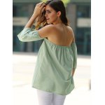 best Stylish Off-The-Shoulder Half Sleeves Solid Color Blouse For Women