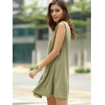 Stylish Keyhole Neckline Sleeveless Solid Color Dress For Women for sale