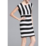 Striped Cap Sleeve Mini Dress for sale
