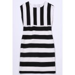 Striped Cap Sleeve Mini Dress photo